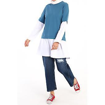 Sleeve And Hem Detailed Basic Tunic