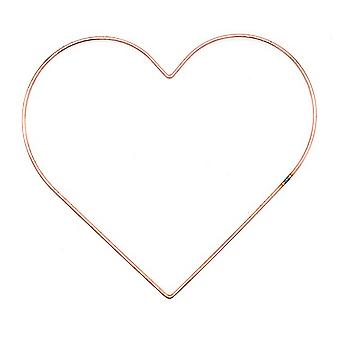 304mm (12in) Copper Metal Heart Ring for Crafts - Wreath & Flower Hoop