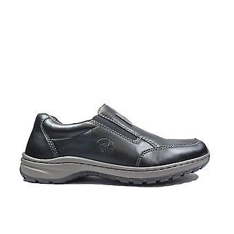 Rieker 03354-03 Black Mens Slip On Shoes
