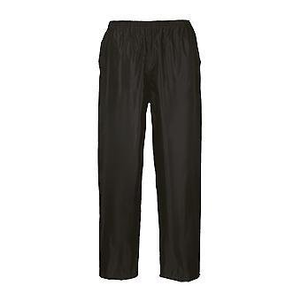 Portwest Mens Classic Adult Rain Trousers Black 7 XL 7XL Black