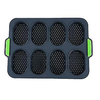 Nonstick French Bread Mold Perforated Pan(Black)