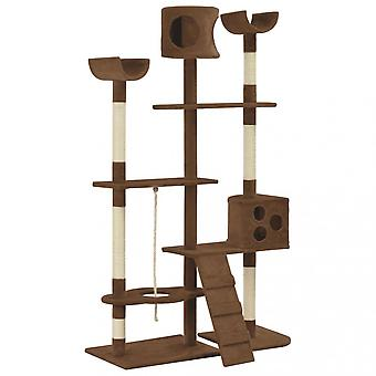 Chunhelife Cat Tree With Sisal Scratching Posts Brown 180 Cm