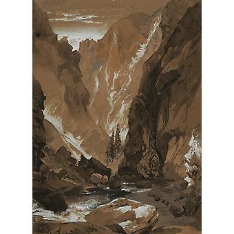 Fondo de pantalla Arte Mural Toltec Gorge Colorado por Thomas Moran