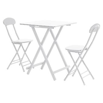 3 PCS Table à manger carrée pliante et ensemble de chaises