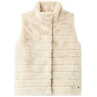 Joules Girls Belle Faux Fur Warm Gilet Bodywarmer