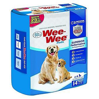 "Four Paws Wee Wee Pads Alkuperäinen - 14 Pakkaus (22"" Pitkä x 23"" Leveä)"