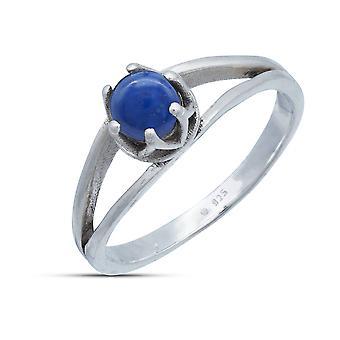 Ring Silber 925 Sterlingsilber Lapis Lazuli blau Stein (Nr: MRI 214-06)