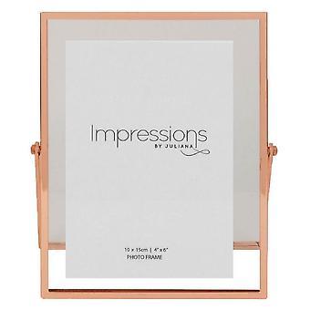 Juliana Impressions Floating Photo Frame 4x6 - Rose Gold