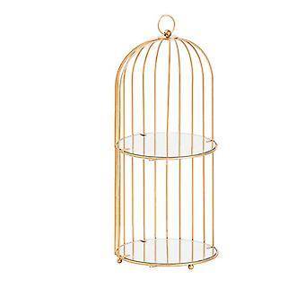 Estante de almacenamiento de hierro nórdico Organizador cosmético creativo de jaula de pájaros Make Up Estantes de almacenamiento