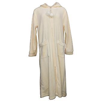Soft & Cozy Women's Long Sleeves Half Zippered Robe w/Pkts Pink 620698