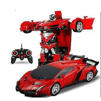 Kauko-ohjattava autot kuorma rc muuntajat lamborghini auto robotti urheiluajoneuvo lapsille punainen