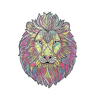 Jigsaw puzzles a4 size 3d wooden jigsaw puzzle for adults and children 10+ lion 21x30cm a4