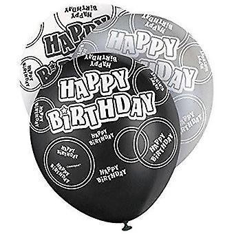 Alles Gute zum Geburtstag Ballons Schwarzer Glanz