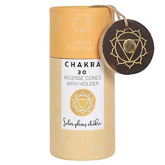 Something Different Solar Plexus Chakra Incense Cones (Pack of 30)