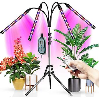 4 Led Plant Growth Supplement Light, Timing Remote Control Growth Light