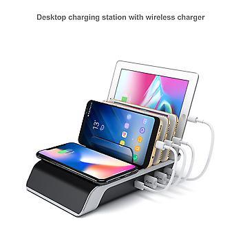 Draadloos oplaadstation Multi-device Charging Base 4 Usb-poorten 5x Bracket Es