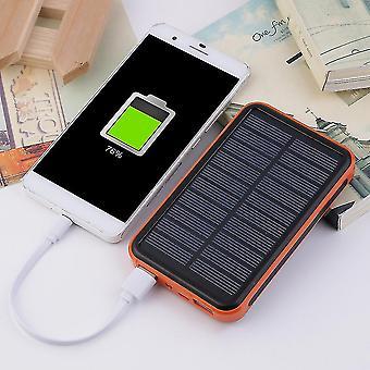 Vattentät bärbar solenergibank med stor kapacitet dubbla USB-solladdare