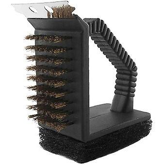 3 În 1 Bbq Grill Ștergeți perie și Răzuitor Gratar Cleaner Tool cupru peri anti-zero Ștergeți pentru toate Grill