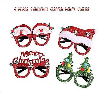 4 db karácsonyi szemüveg keret és fejpánt aranyos haj karika dekoráció kiegészítők ajándékok