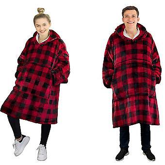 One Size reversibile, buzunar mare Hoodie Jachete pentru adulti si copii