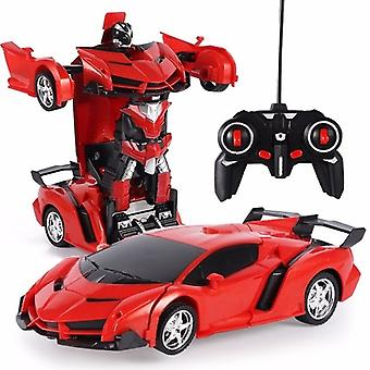 Ny fjärrkontroll PolisLeksak Bil Deformation Robot Sport Bil Modell Robot