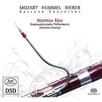 Matthias Racz - Mozart, Hummel, Weber: Bassoon Concertos [SACD] USA import