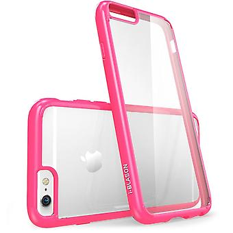 iPhone 6s Case, Scratch Resistant,i-Blason Clear, Halo Series, Apple iPhone 6 Case 6s 4.7 Inch Hybrid Bumper -Clear/Pink