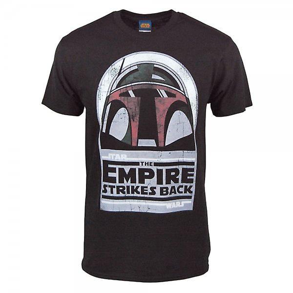 Star Wars Mens Star Wars Boba Fett casque T Shirt noir
