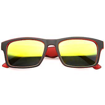メンズ スポーツ サングラス UV400 保護ミラー レンズ