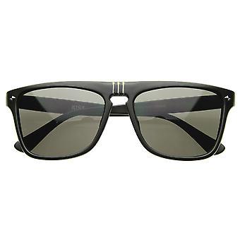 Flat Top Designer Shades Casual Modern Aviator Sunglasses