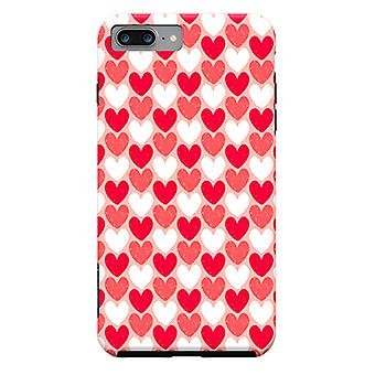 ArtsCase Designers Cases Red Hearts for Tough iPhone 8 Plus / iPhone 7 Plus