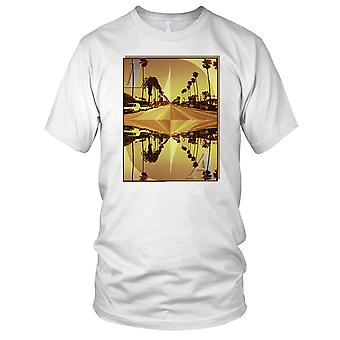 LA Los Angeles - DJ stranden Ibiza Party Surfer Kids T skjorte