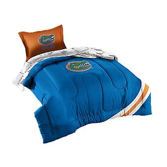 Officially Licensed UF Florida Gators 5 Piece Twin Size Comforter Set