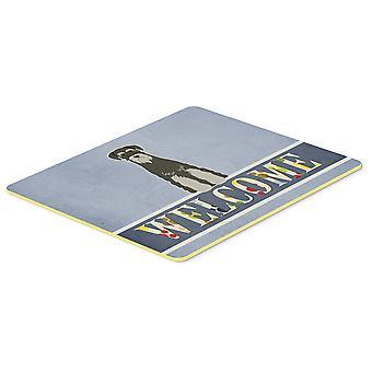 Standard Schnauzer musta harmaa Tervetuloa keittiö tai kylpyamme Mat 20 x 30