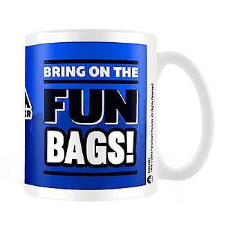 Anchorman hrnček Brian Fantana zábava tašky film logo nový oficiálny Boxed