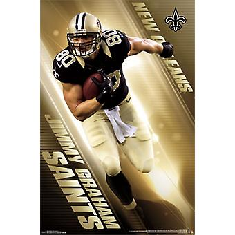 New Orleans Saints - J Graham 14 Poster Poster Print