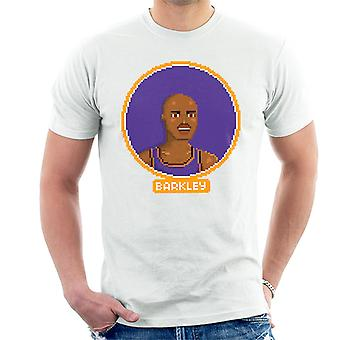 Charles Barkley Portrait Pixel Herren T-Shirt