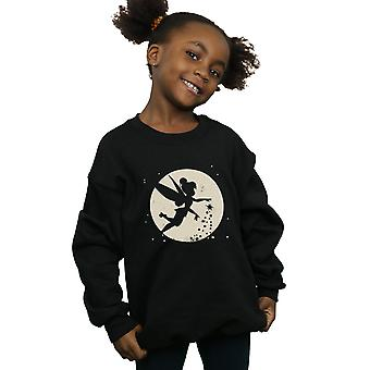 Disney Girls Tinkerbell Moon Cropped Sweatshirt