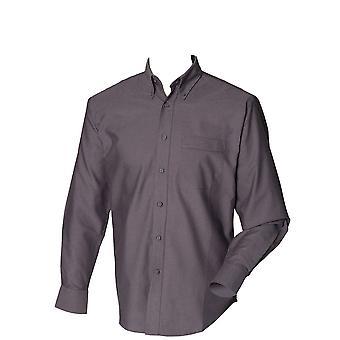 Manga larga de Henbury equipados camisa Oxford Classic