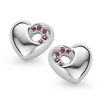 Orphelia Silver 925 ørering hjertet Garnet zirkonium ZO-5020