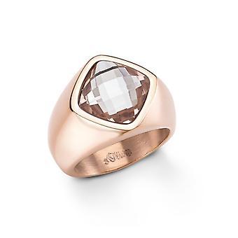 s.Oliver Jewel Damen Ring Edelstahl  IP rosé Gr. 58 SO999 - 465380