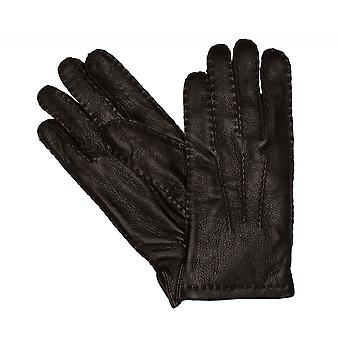 Type of Shaper gloves men's gloves leather winter gloves Brown 3355