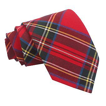 Klassische Krawatte rot Royal Stewart Tartan