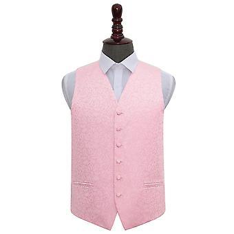 Baby Pink Swirl Wedding Waistcoat