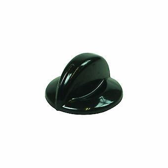 Botão de controle de placa preta 6mm Indesit