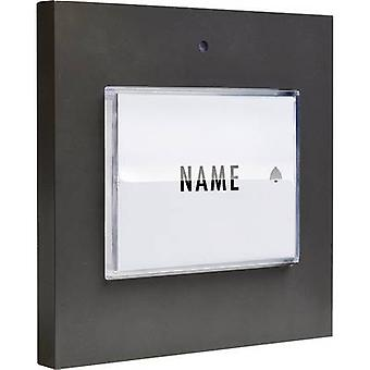 m-e modern-electronics 41050 Bell button backlit, incl. nameplate Detached Anthracite 8-24 V AC/DC/1 A