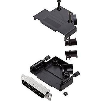 encitech D45PK-P-25-HDP44-K 6355-0055-03 D-SUB pin strip set 45 ° Number of pins: 44 Solder bucket 1 Set