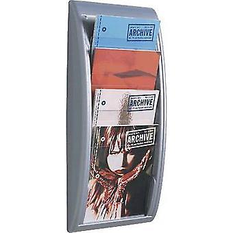 Paperflow Quick Blick 4061-35 Porte-brochure Aluminium A4 No. des compartiments 4 1 pc(s) (W x H x D) 290 x 650 x 95 mm