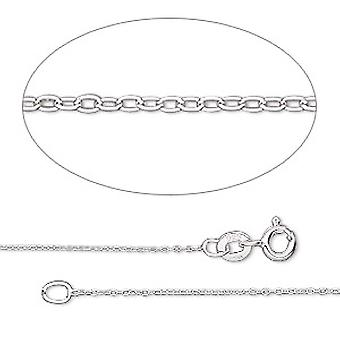 GEMSHINE colar de prata 0,6 mm corrente de ancoragem em comprimentos de 40 a 46 cm