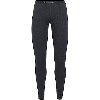 Icebreaker Women's Vertex Leggings Mountain Dash - Jet Heather/Black